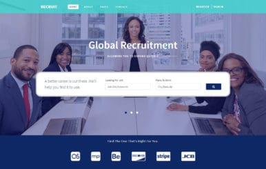 Recruit Human Resource Management Flat Bootstrap Responsive Web Template