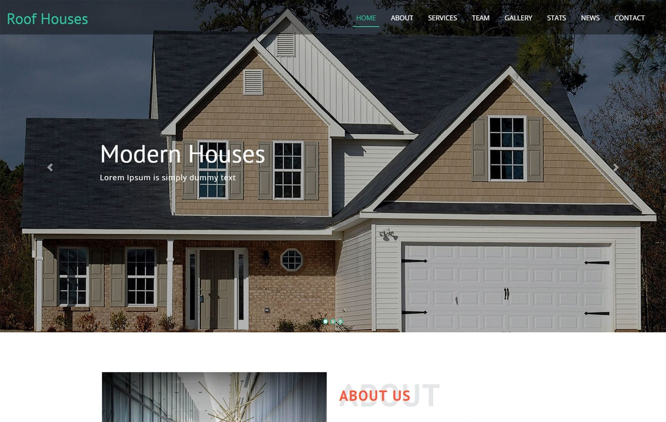 Roof house a Real Estate Category Bootstrap Responsive Web Template Mobile website template Free