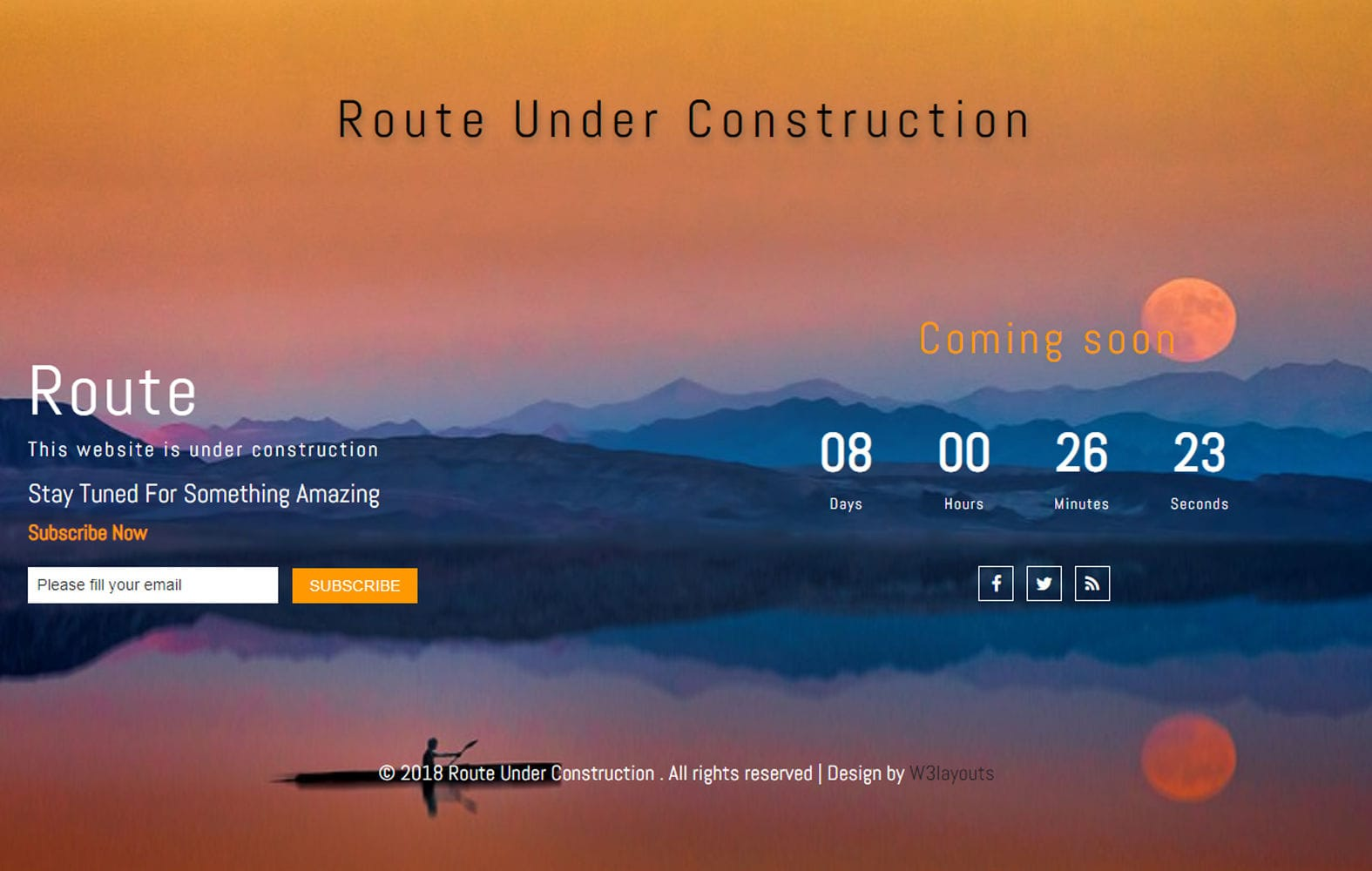 Route Under Construction Responsive Widget Template Mobile website template Free