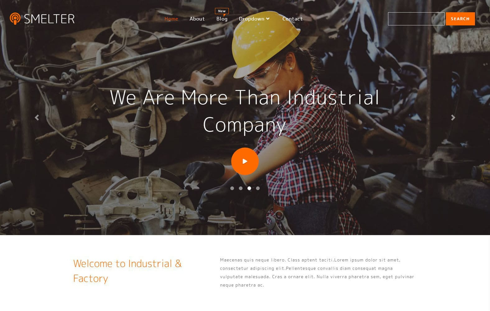 Smelter Industrial Category Bootstrap Responsive Web Template Mobile website template Free