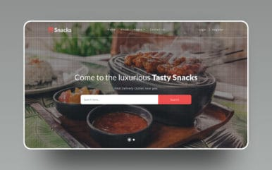Snacks Restaurants Category Flat Bootstrap Responsive Web Template.