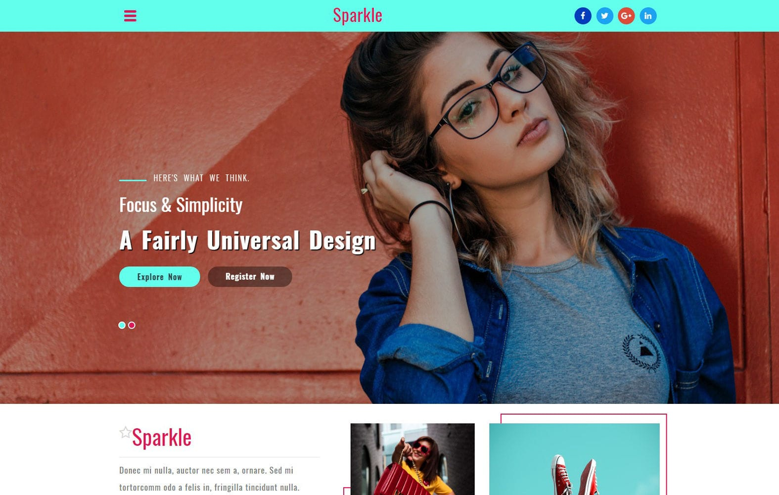 Sparkle a Fashion Category Bootstrap Responsive Web Template Mobile website template Free