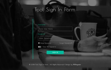 Tool Sign in Form Flat Responsive Widget Template.