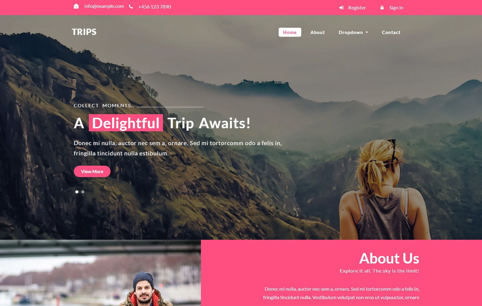 Trips a Travel Category Bootstrap Responsive Web Template Mobile website template Free