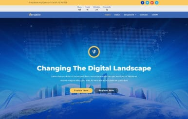 Versatile – Multipurpose Bootstrap Responsive Web Template