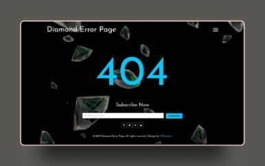 Diamond Error Page a Flat Responsive Widget Template