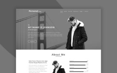 Personal View Personal Category Bootstrap Responsive Web Template.