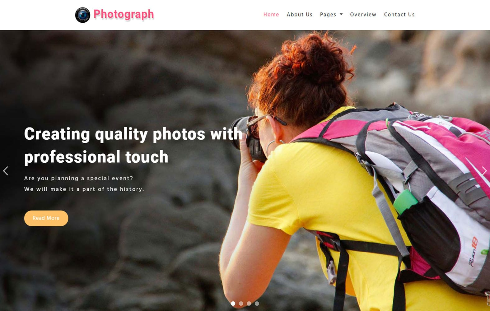 Photograph – Photography Category Bootstrap Responsive Web Template Mobile website template Free