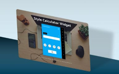 Style Calculator Widget a Flat Responsive Design