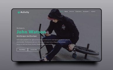 Activity a Personal Category Bootstrap Responsive Web Template