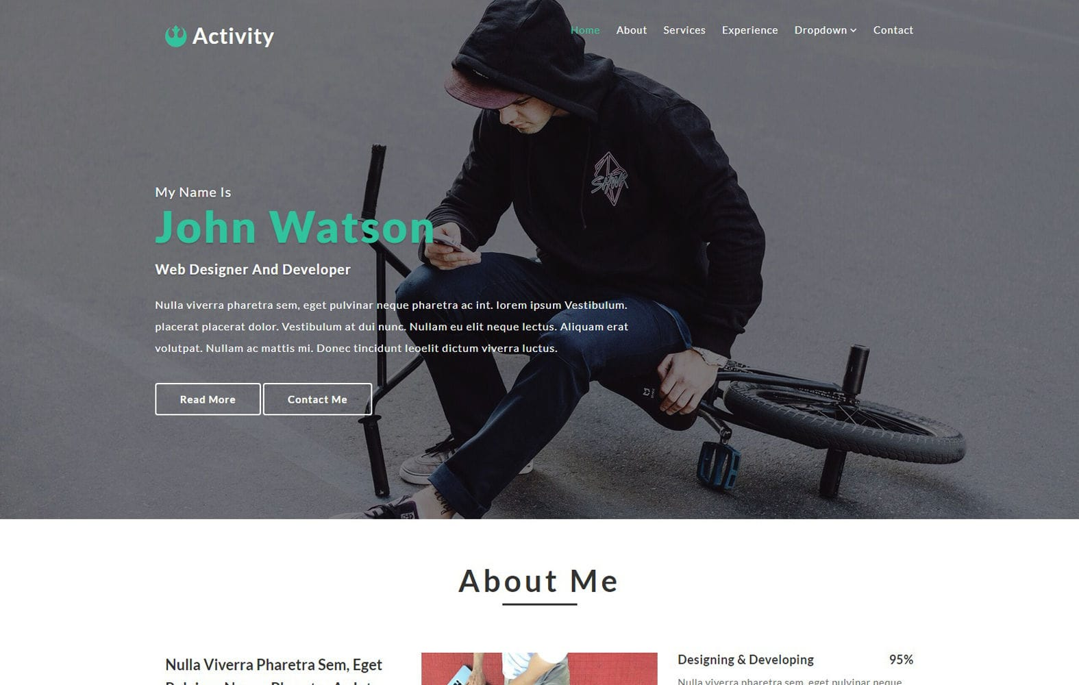 Activity a Personal Category Bootstrap Responsive Web Template Mobile website template Free