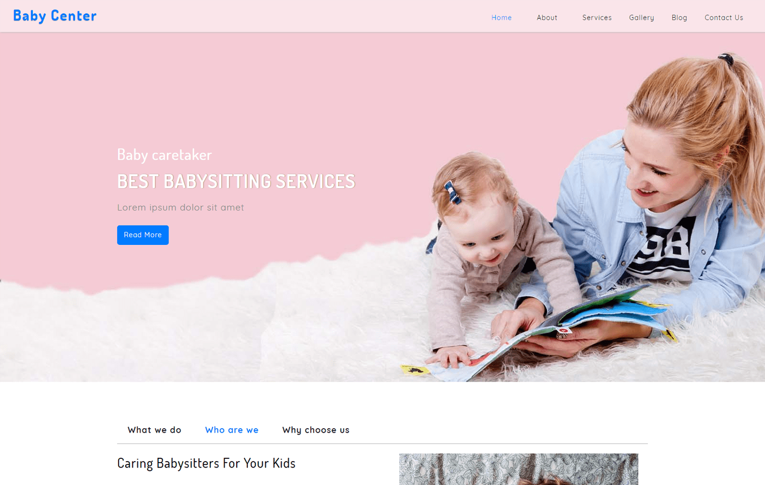 Baby Center – Society Category Bootstrap Responsive Web Template Mobile website template Free