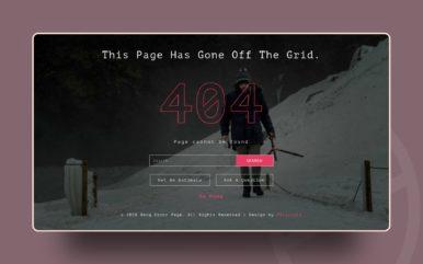 Berg Error Page Flat Responsive Widget Template