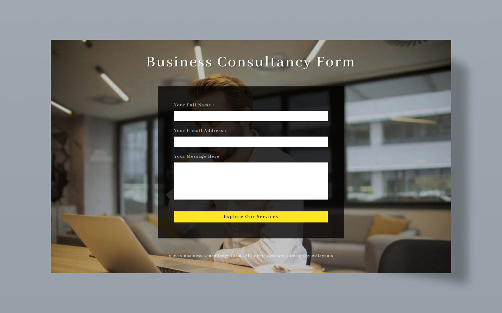 Business Consultancy Form Flat Responsive Widget Template