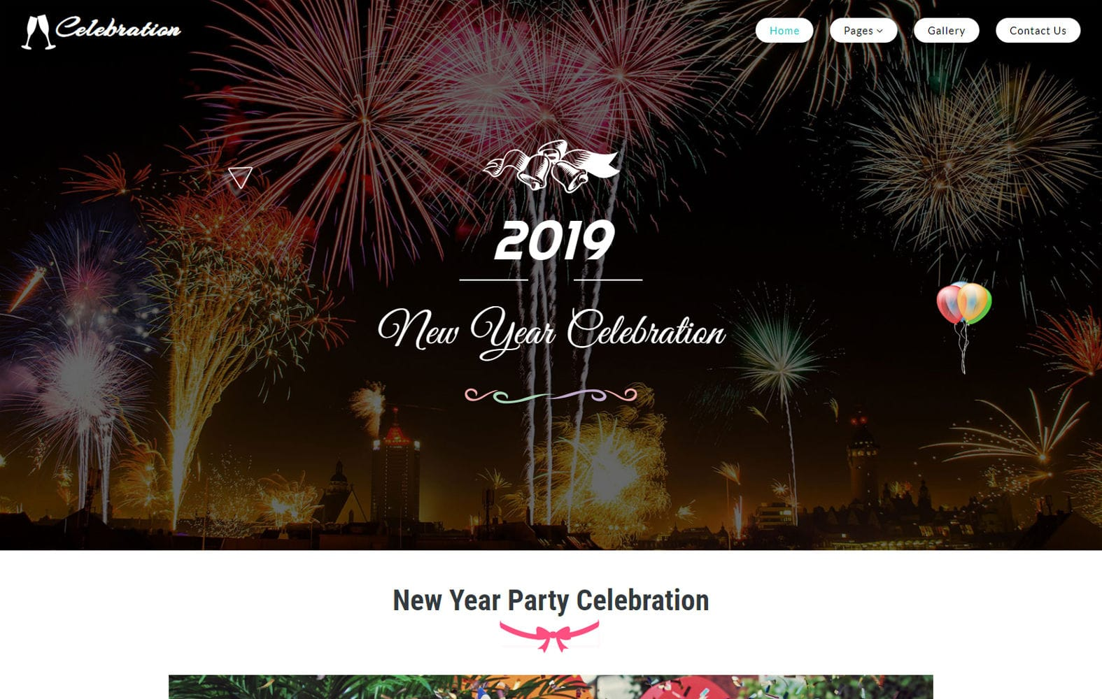 Celebration an Entertainment Category Bootstrap Responsive Web Template Mobile website template Free