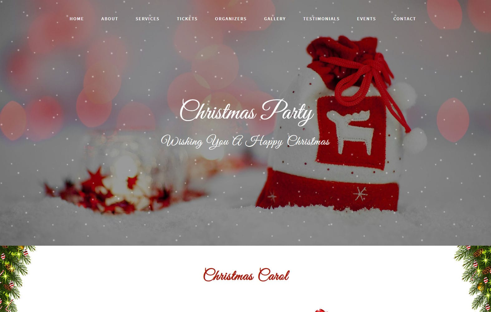 Christmas Party an Entertainment Category Bootstrap Responsive Web Template Mobile website template Free