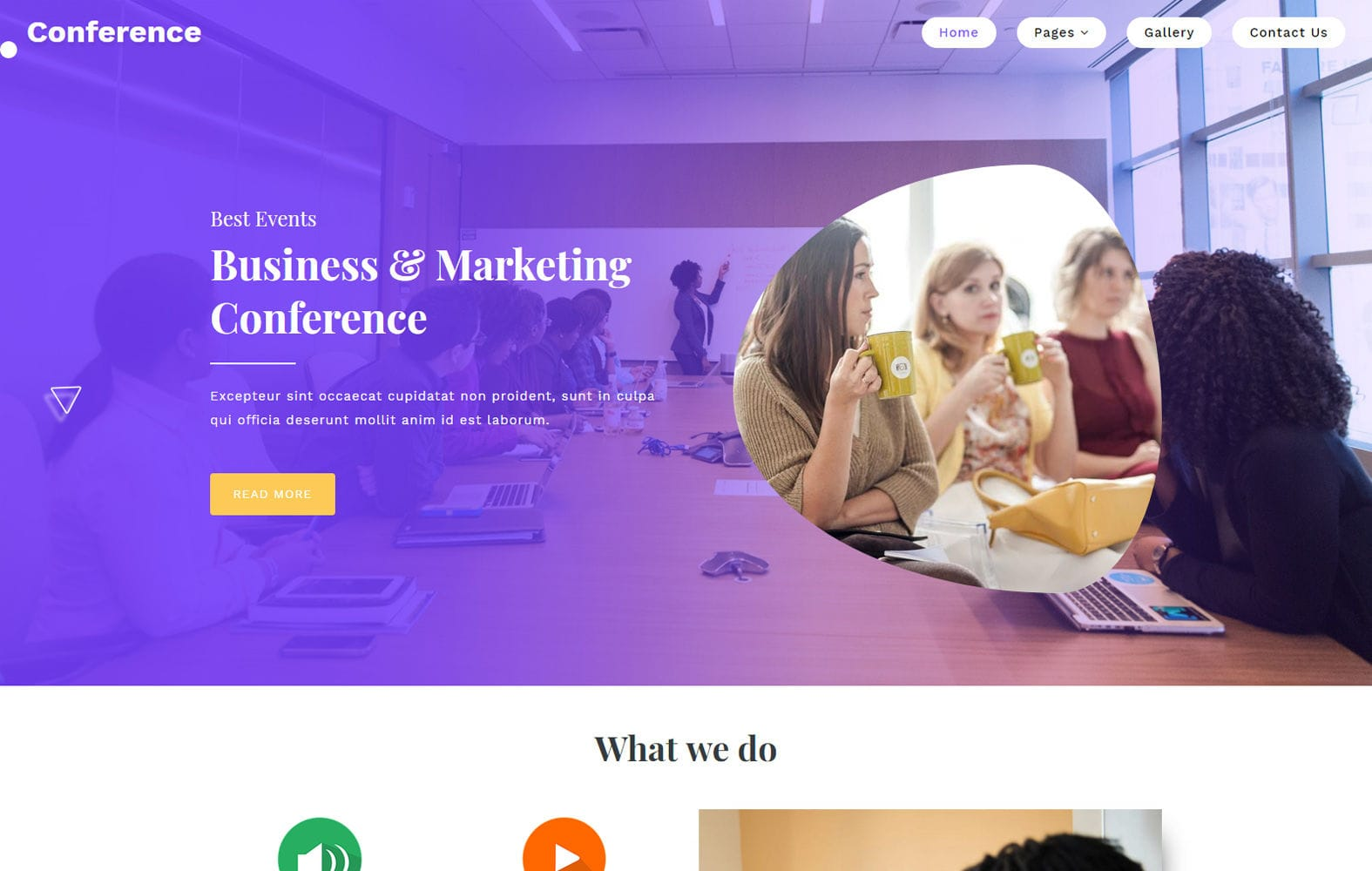 Conference a Corporate Category Bootstrap Responsive Web Template