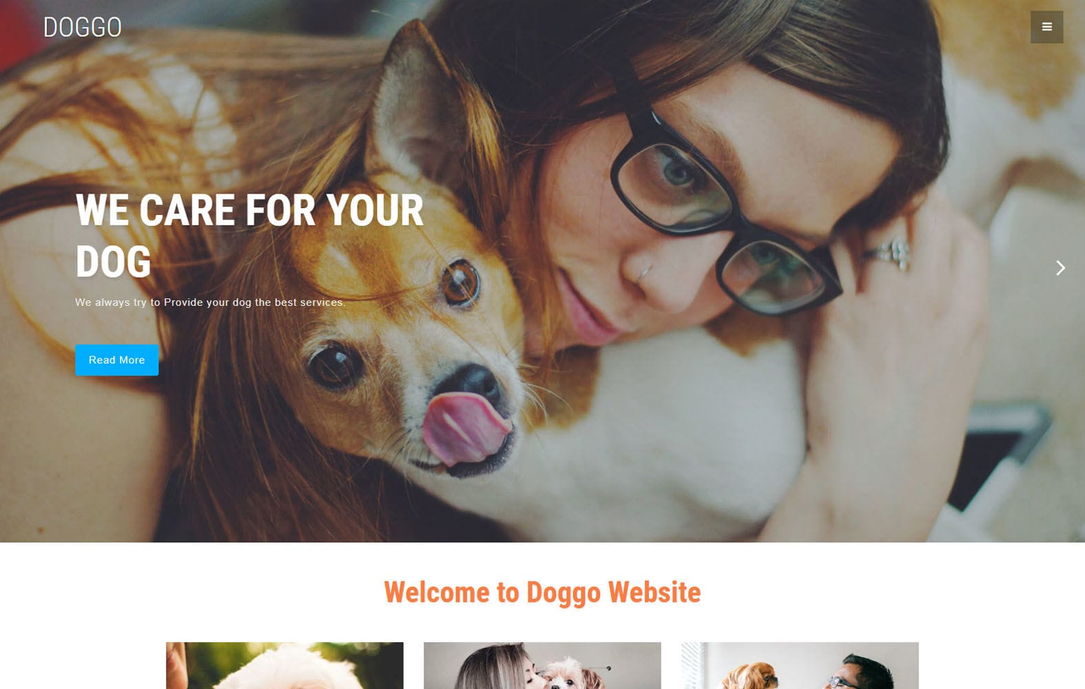 Doggo – Animals & Pets Category Bootstrap Responsive Web Template Mobile website template Free