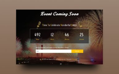 Event Coming Soon Responsive Widget Template