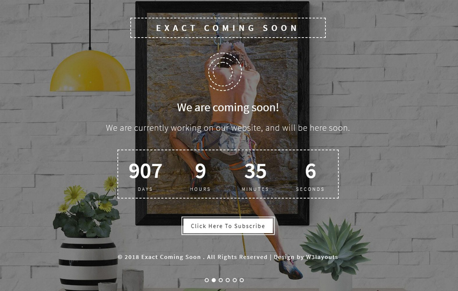 Exact Coming Soon Responsive Widget Template Mobile website template Free