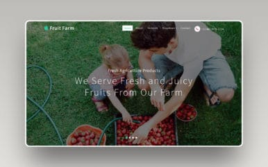 Fruit Farm an Agriculture Category Bootstrap Responsive Web Template