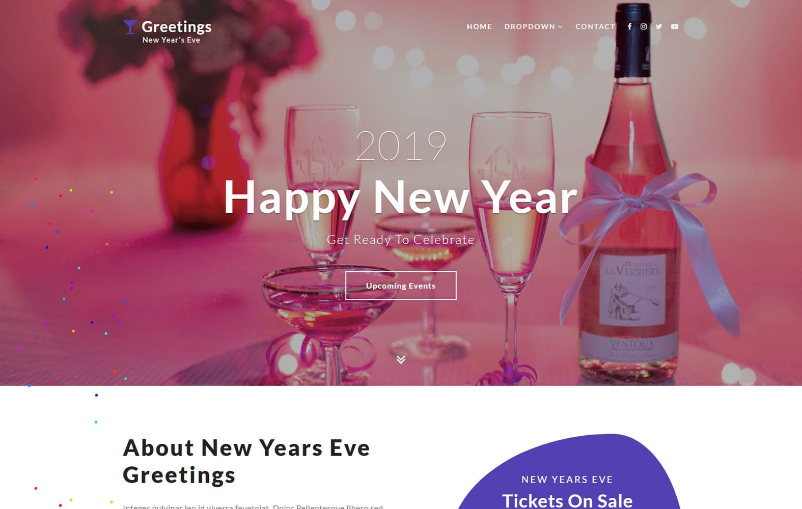 Greetings an Entertainment Category Bootstrap Responsive Web Template Mobile website template Free
