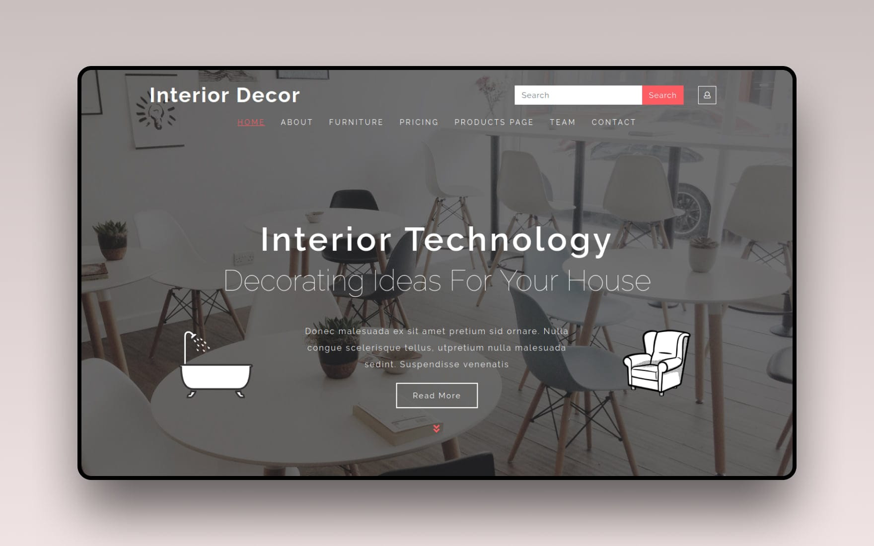 Interior Decor Interior Category Bootstrap Responsive Web Template.