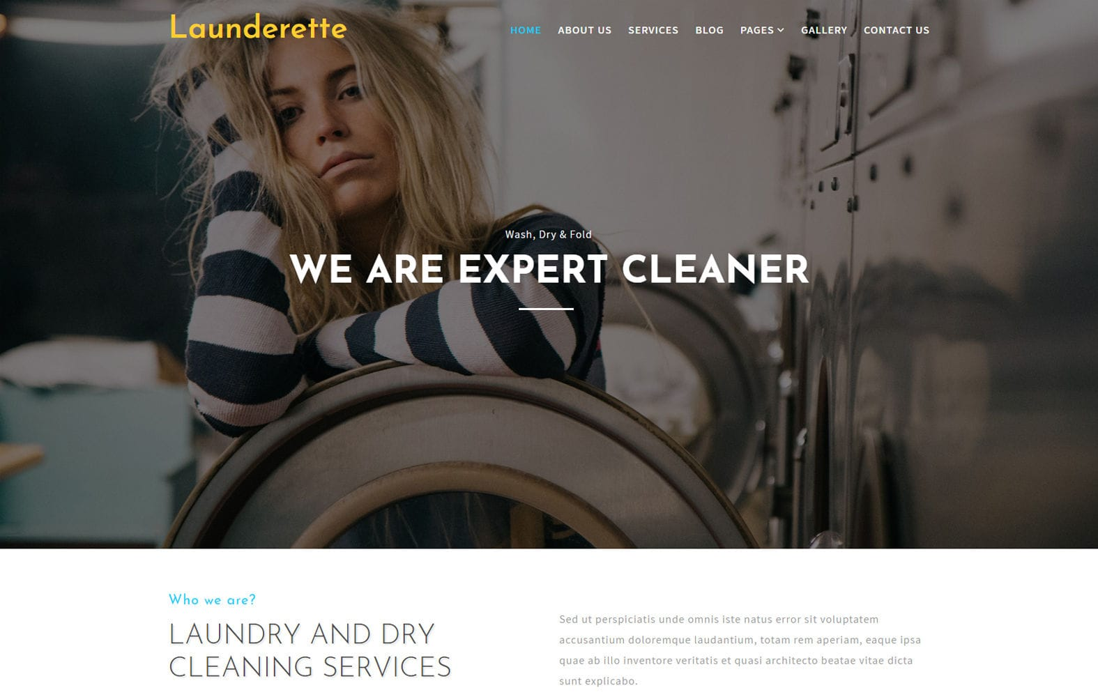 Launderette –  Laundry Category Bootstrap Responsive Web Template Mobile website template Free
