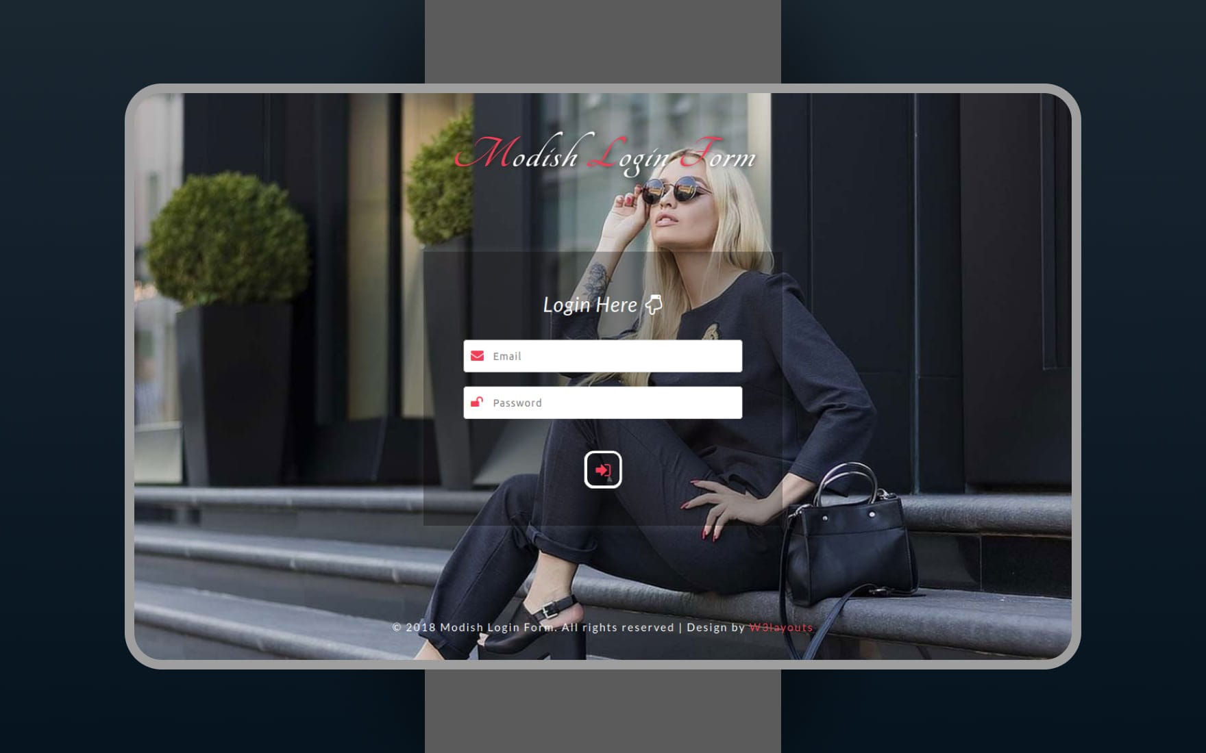 Modish Login Form Responsive Widget Template