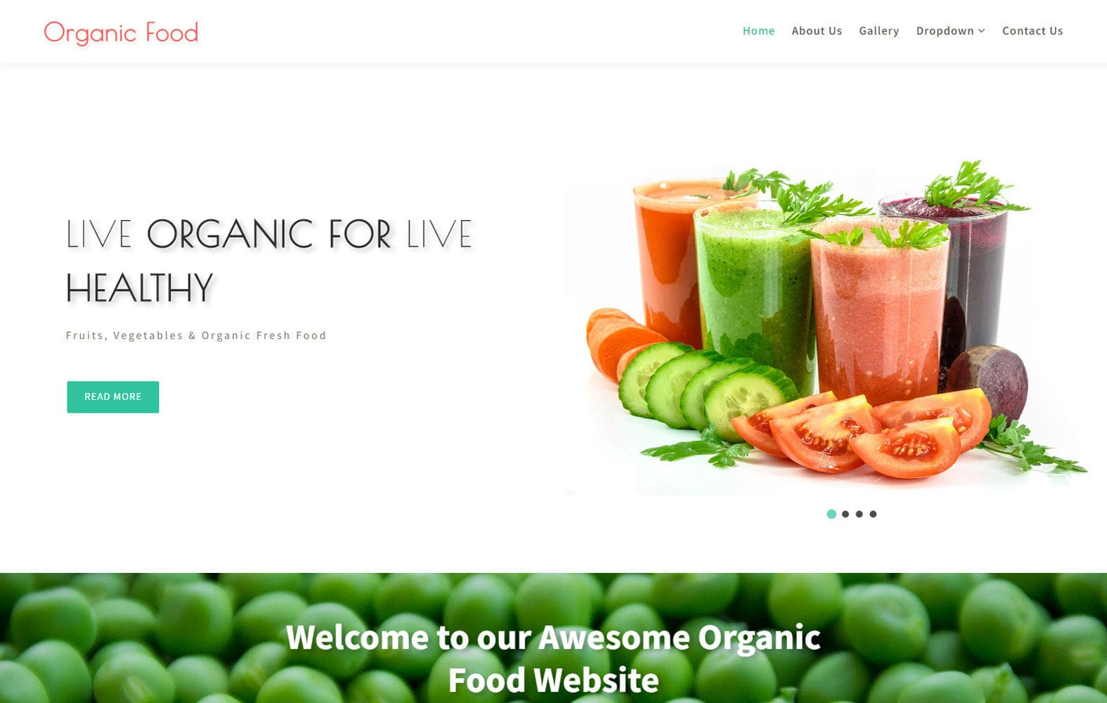 Organic Food – Agriculture Category Bootstrap Responsive Web Template