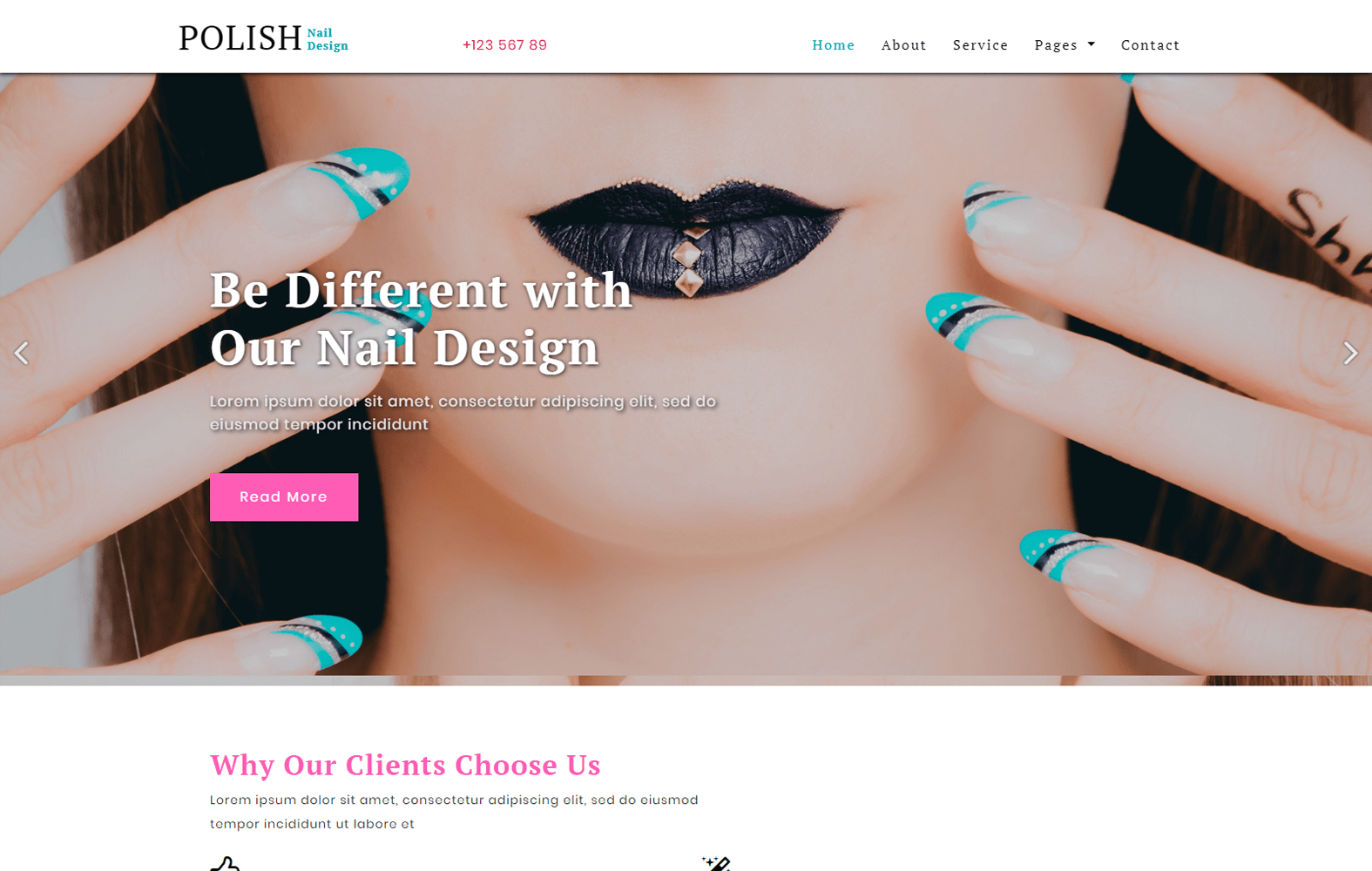 Polish a Fashion Category Bootstrap Responsive Web Template Mobile website template Free