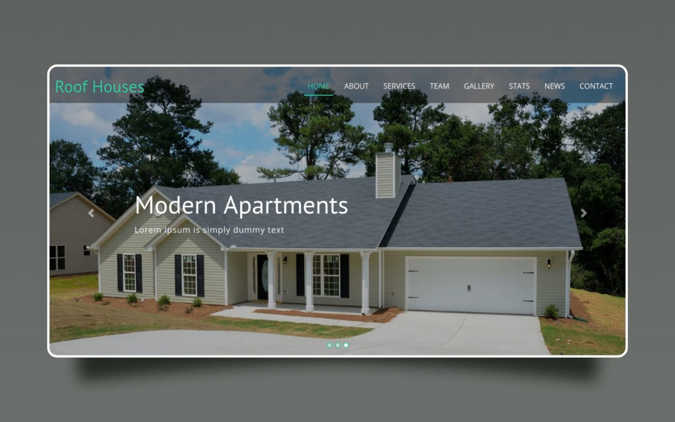 roof houses website template