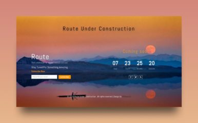 Route Under Construction Responsive Widget Template