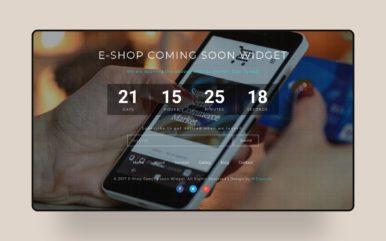 Shop Coming Soon Flat Responsive Widget Template