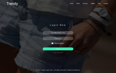 Trendy Login Form Flat Responsive Widget Template