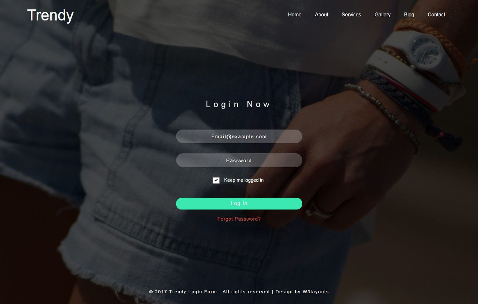 Trendy Login Form Flat Responsive Widget Template Mobile website template Free