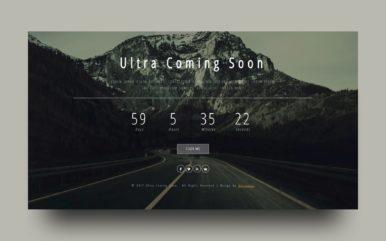 Ultra Coming Soon Flat Responsive Widget Template