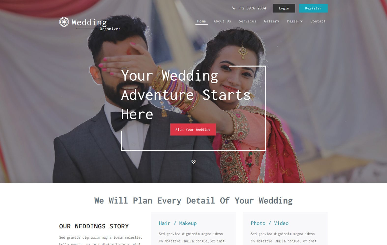 Wedding Organizer – Wedding Category Bootstrap Responsive Web Template Mobile website template Free