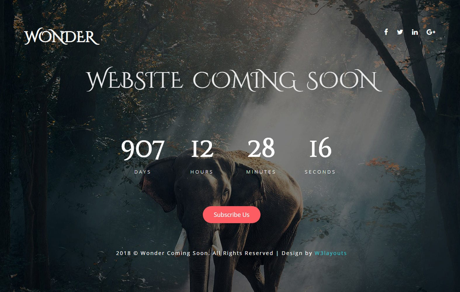 Wonder Coming Soon a Flat Responsive Widget Template Mobile website template Free