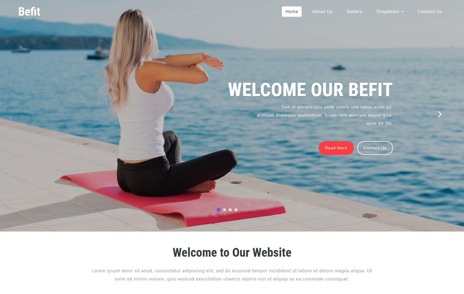 Befit a Sports Category Bootstrap Responsive Web Template Mobile website template Free
