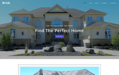 Brick – Real Estate Category Bootstrap Responsive web Template