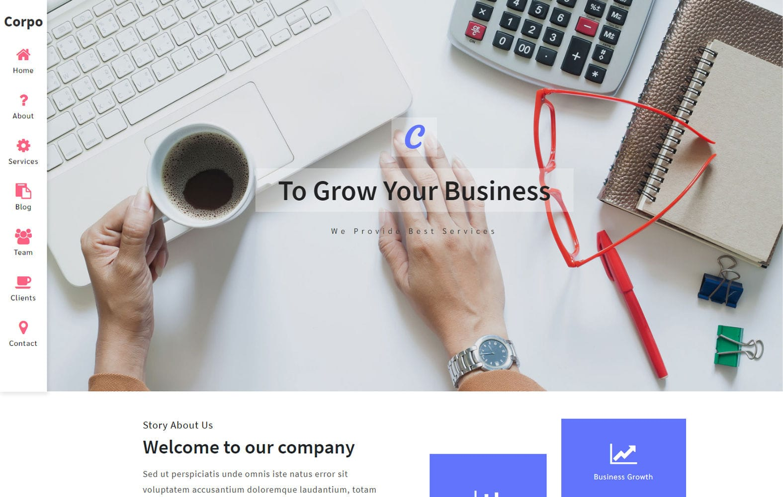Corpo a Corporate Category Bootstrap Responsive Web Template