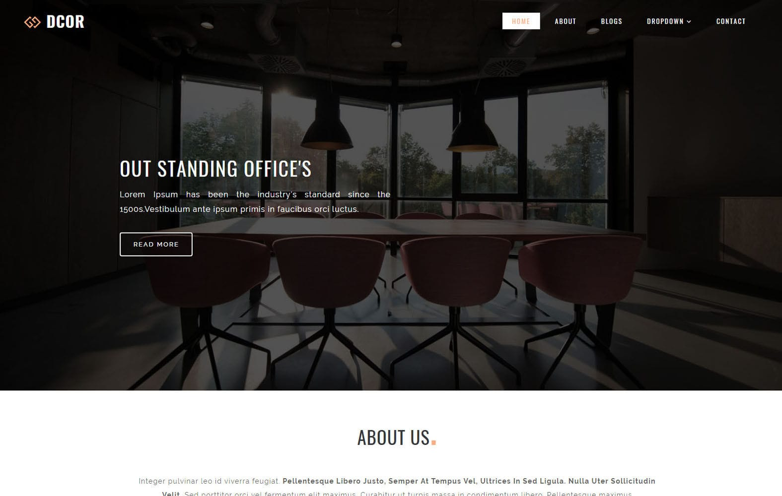 Dcor Interior Category Bootstrap Responsive Web Template Mobile website template Free