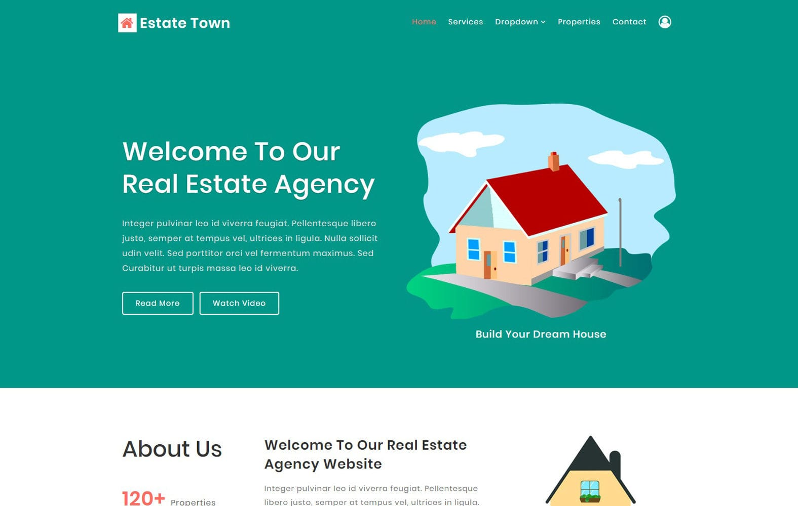 Estate Town a Real Estate Category Bootstrap Responsive Web Template Mobile website template Free