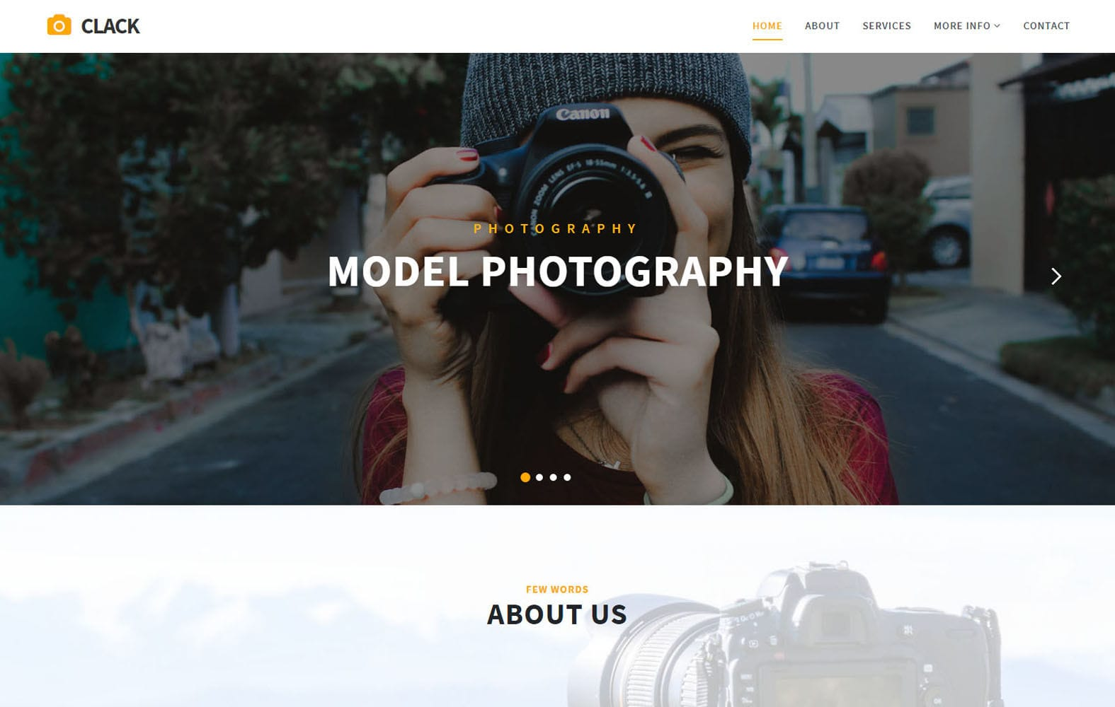 Clack Photo Gallery Bootstrap Responsive Web Template Mobile website template Free
