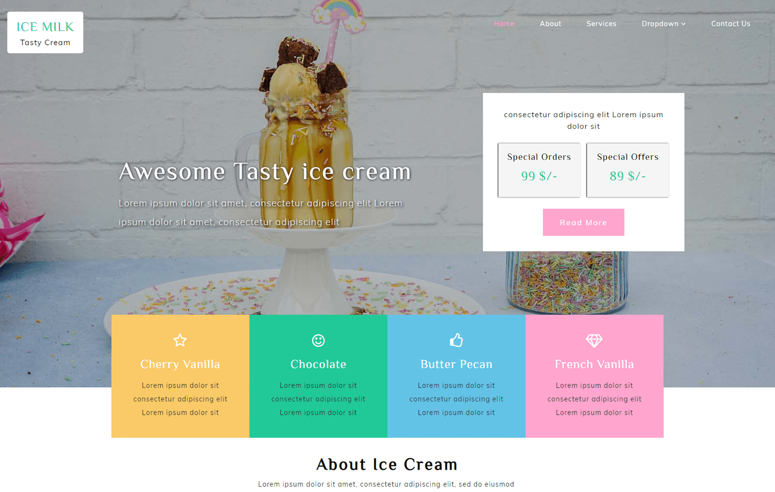 Ice Milk – Hotel Category Bootstrap Responsive Web Template Mobile website template Free