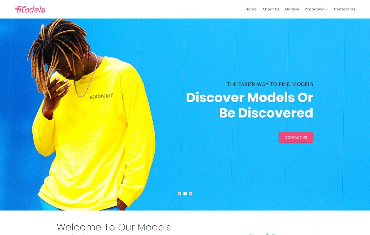 Models a Fashion Category Bootstrap Responsive Web Template Mobile website template Free
