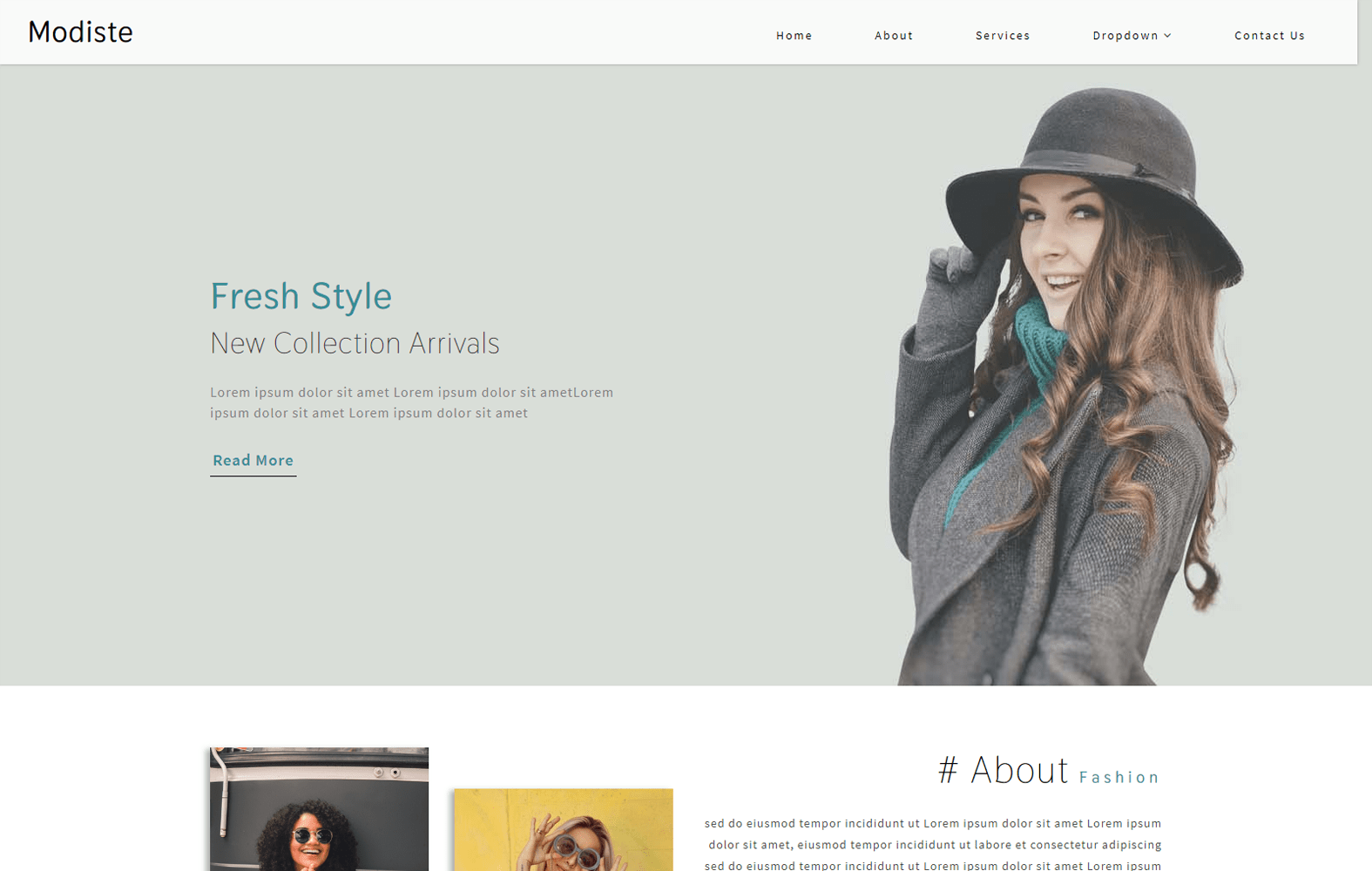 Modiste a Fashion Category Bootstrap Responsive Web Template Mobile website template Free