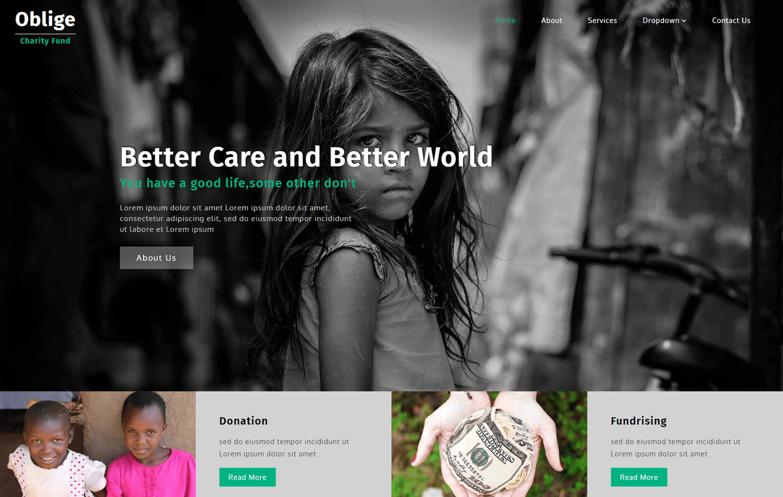 Oblige a Society & People Category Bootstrap Responsive Web Template Mobile website template Free