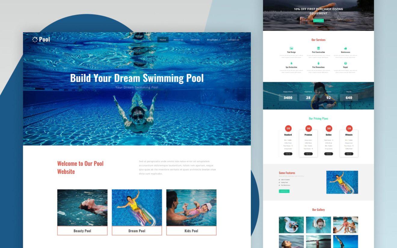 pool website template